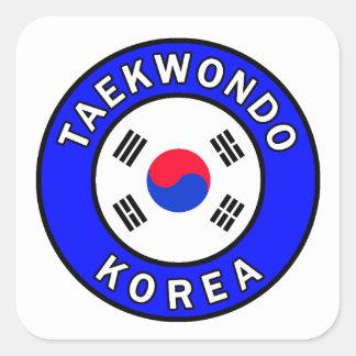 Taekwondo Quadratischer Aufkleber