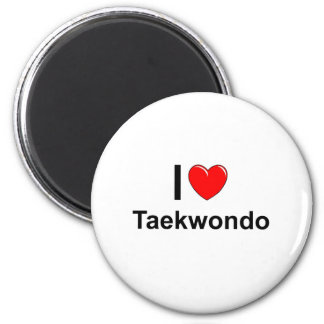 Taekwondo Runder Magnet 5,1 Cm