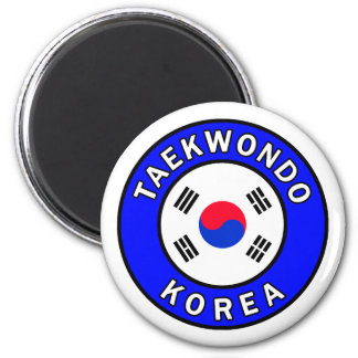 Taekwondo Runder Magnet 5,7 Cm
