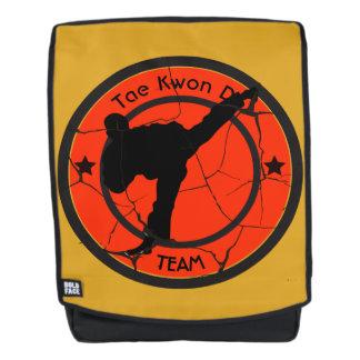 Taekwondo-Silhouette von Taekwondo-Kämpfer Rucksack
