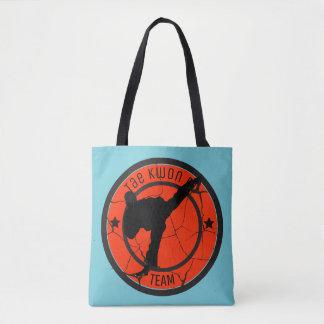 Taekwondo-Silhouette von Taekwondo-Kämpfer Tasche