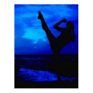 Taekwondo-Strand-Art Postkarte
