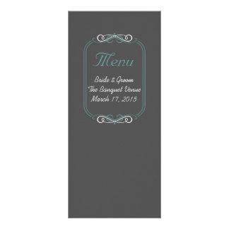 Tafel-aquamarine Menü-Karte Werbekarte