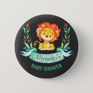 Tafel-Aquarell-Löwe-Babyparty Runder Button 5,1 Cm