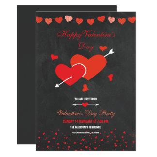 Tafel-Artvalentines-Party-Flyer Karte