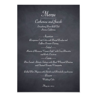 Tafel-Blick-Hochzeits-Menü-Karte 12,7 X 17,8 Cm Einladungskarte