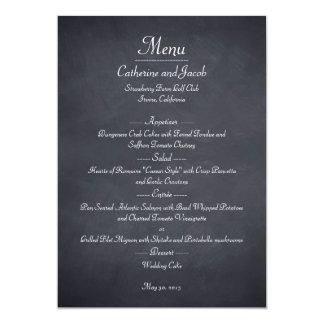 Tafel-Blick-Hochzeits-Menü-Karte Individuelle Einladung