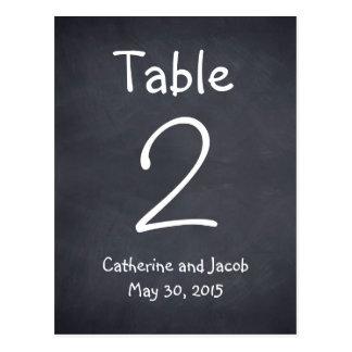 Tafel-Blick-Wedding Tischnummer-Karte Postkarte