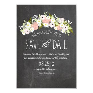 Tafel-Blumen in der Blüte Save the Date 12,7 X 17,8 Cm Einladungskarte