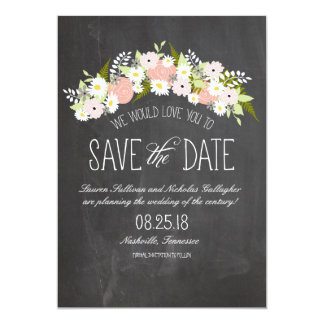 Tafel-Blumen in der Blüte Save the Date