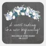 Tafel-BlumenKranz-Hochzeit Sticker