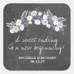 Tafel-BlumenKranz-Hochzeit Stickers