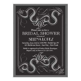 Tafel-Brautpartyeinladungen