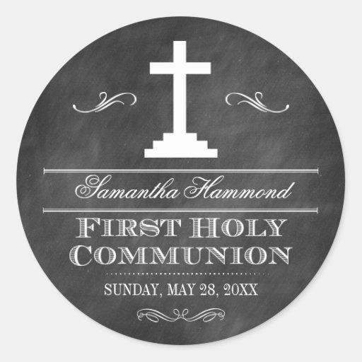 Tafel-erste heilige Kommunion Runder Sticker