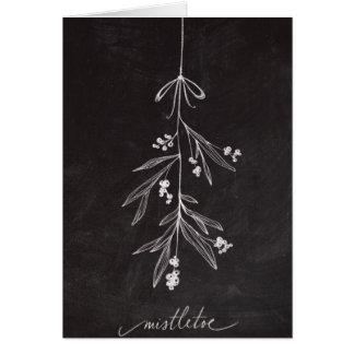 Tafel-Feiertags-Mistelzweig - Weihnachten Grußkarte
