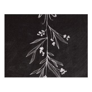 Tafel-Feiertags-Mistelzweig - Weihnachten Postkarte