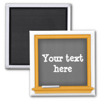 Tafel, fertigen Ihren Text besonders an Quadratischer Magnet