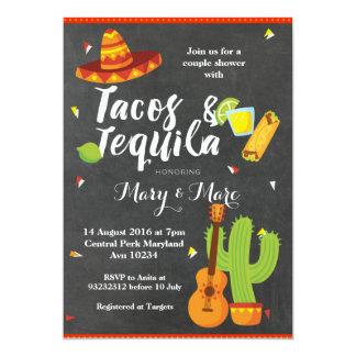 Tafel-FiestaTacos und Tequila-Einladung Karte