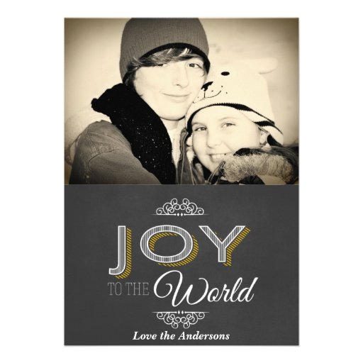 Tafel-Freude zum Weltweihnachten Personalisierte Ankündigungskarten