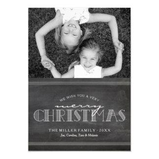 Tafel-frohe Weihnacht-Feiertags-Buchstabe-Karte 12,7 X 17,8 Cm Einladungskarte