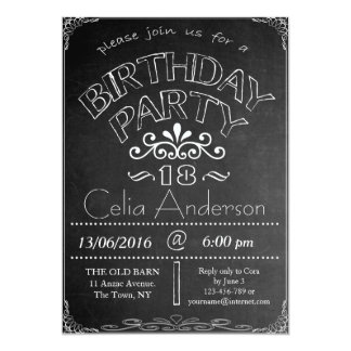 Tafel-Geburtstags-Feier-Einladung 12,7 X 17,8 Cm Einladungskarte