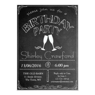 Tafel-Geburtstags-Feier-Einladung Karte
