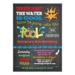 Tafel-Geburtstags-Pool-Party Einladung