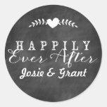 Tafel glücklich seitdem Wedding Aufkleber