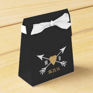 Tafel-Goldherz + Pfeil-Bevorzugungs-Kasten Geschenkkartons