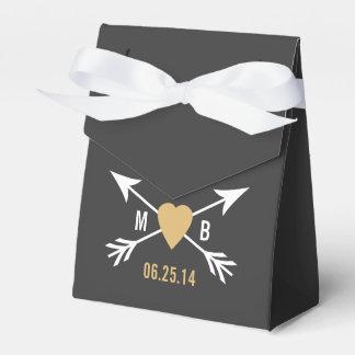 Tafel-Goldherz + Pfeil-Bevorzugungs-Kasten Geschenkschachtel
