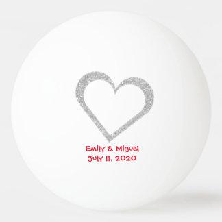 Tafel-Herz-Gastgeschenk HochzeitPing Pong Ball Tischtennis Ball
