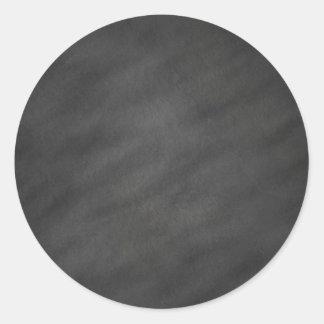 Tafel-Hintergrund-grauer schwarzer Runder Aufkleber