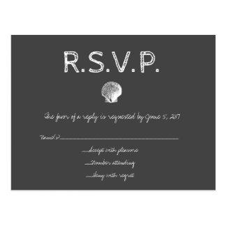 Tafel-Hochzeit in Urlaubsorts-Muschel UAWG-Karten Postkarte