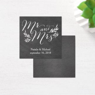 Tafel-Hochzeits-Einladungs-Namensschild-Karte Quadratische Visitenkarte