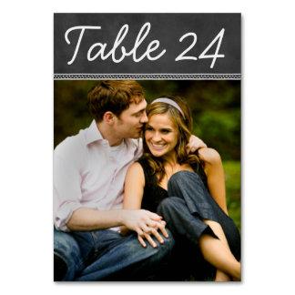 Tafel-Hochzeits-Foto-Tischnummer-Karte