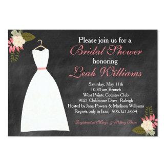 Tafel-Hochzeits-KleiderBrautparty-Einladung 12,7 X 17,8 Cm Einladungskarte