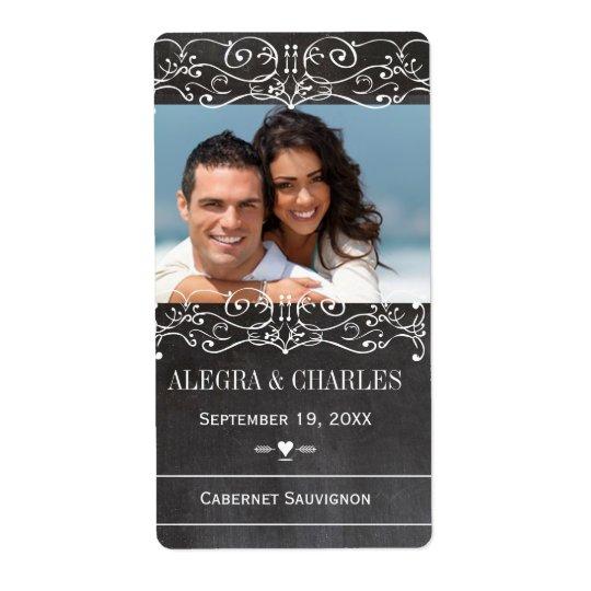 Tafel-Hochzeits-Wein-Aufkleber Großer Adressaufkleber