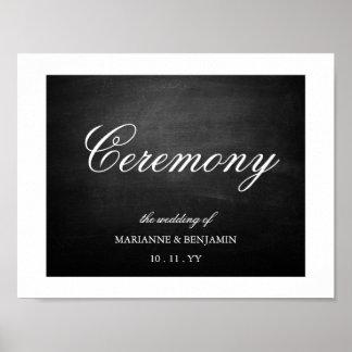 Tafel-Hochzeits-Zeichen Poster