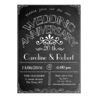 Tafel-Hochzeitstag-Einladung 20. Karte