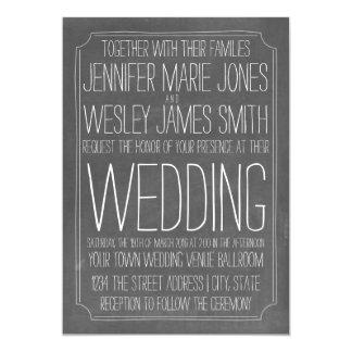 Tafel-inspirierte großer Druck-Hochzeit 12,7 X 17,8 Cm Einladungskarte