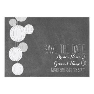Tafel-inspirierte weiße Laternen Save the Date 8,9 X 12,7 Cm Einladungskarte