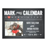 Tafel-Kalender-Foto-Save the Date Karten Individuelle Ankündigskarten