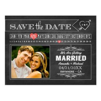 Tafel-Kalender-Foto-Save the Date Karten Postkarten
