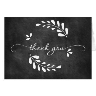 Tafel-Kranz danken Ihnen zu kardieren Karte