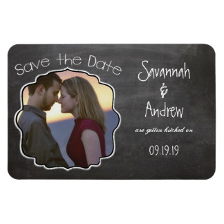 Tafel-Kunst, die Save the Date Wedding ist Magnet