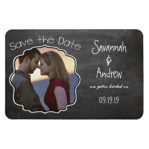 Tafel-Kunst, die Save the Date Wedding ist Recchteckiger Magnet