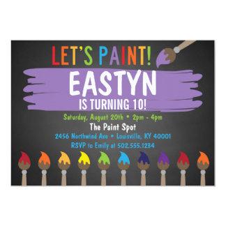 Tafel-Malerei-Party/Kunst-Party Invitatoin Karte