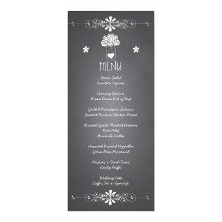 Tafel-Maurer-Glas-Hochzeits-Empfangs-Menü-Karte 10,2 X 23,5 Cm Einladungskarte