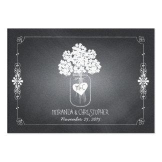 Tafel-Maurer-Glas-Hochzeits-Sitzplatz-Platzkarte Mini-Visitenkarten