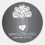 Tafel-Maurer-Glas-personalisierte Runder Sticker